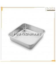 Aluminium Deep Square Cake Pan/ Cake Tin/ Pastries Baking Tray - A0602M