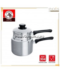 18cm Zebra Stainless Steel SUS304 Double Boiler Steaming Pot with Handle - Z173318
