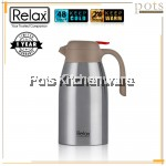 Relax Keep Warm Cold 18.8/SUS304 Stainless Steel Thermal Jug/Carafe (1500ml 2000ml) - D3200